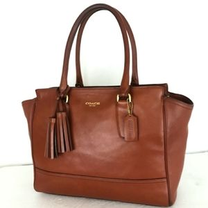 Coach Legacy Candice Sad Leather Tote